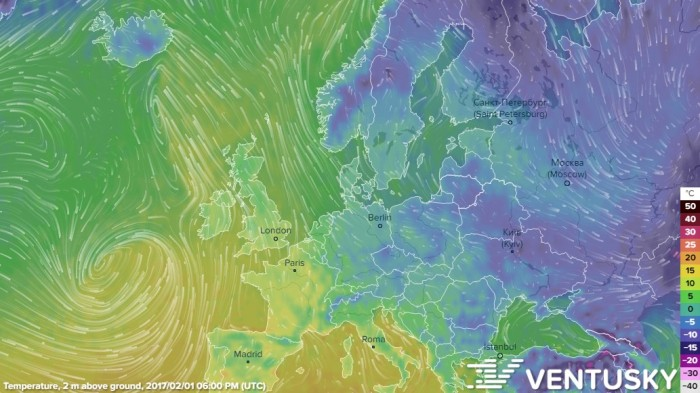 1. Map of the Day: Ventusky – fantastic, whatever the weather