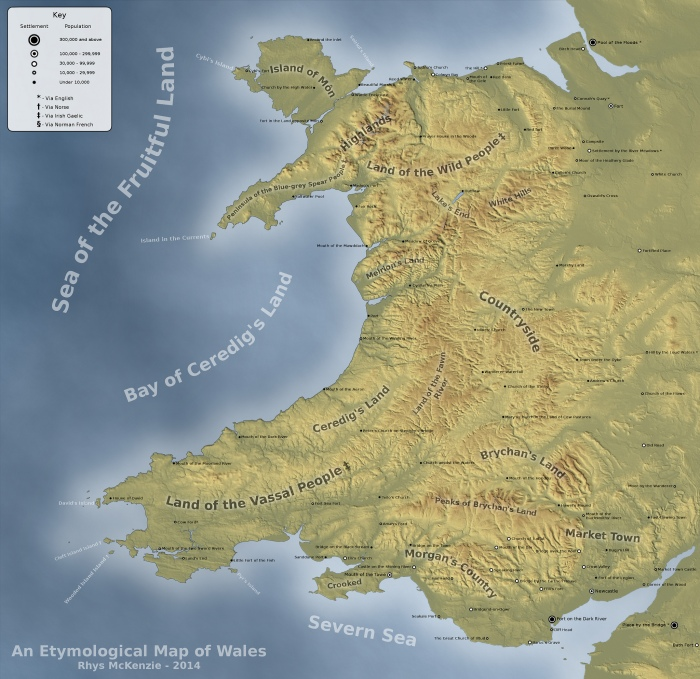 Happy St David's Day – Dydd Gŵyl Dewi Hapus! (Map of Wales)